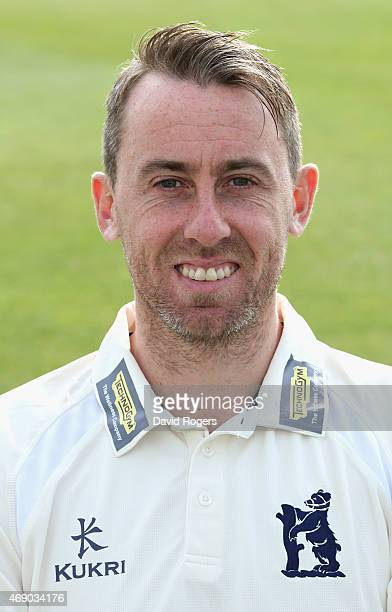 Rikki Clarke of Warwickshire County Cricket Club poses for a portrait at the photocall held at Edgbaston on April 9 2015 in Birmingham England