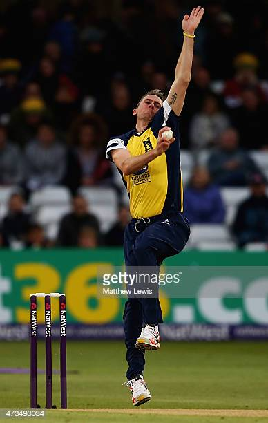 Rikki Clarke of Warwickshire in action during the NatWest T20 Blast match between Nottinghamshire and Warwickshire at Trent Bridge on May 15 2015 in...
