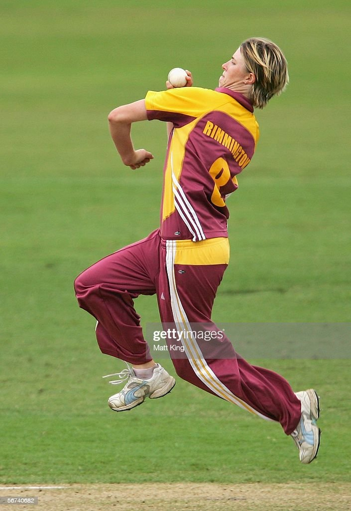 RikkiLee Rimington of the Fire bowls during the 2nd Final between the New South Wales Breakers and the Queensland Fire at North Sydney Oval February...