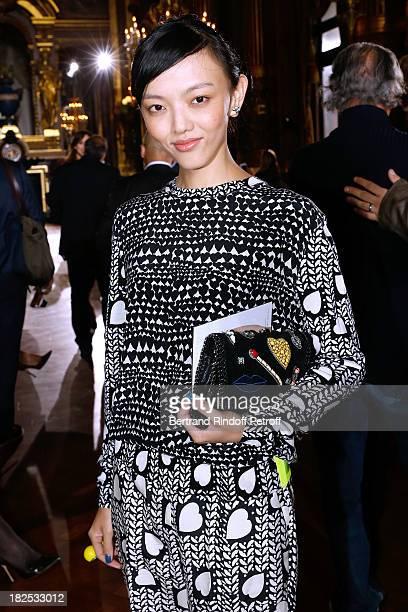 Rila Fukushima attends Stella McCartney show as part of the Paris Fashion Week Womenswear Spring/Summer 2014 held at Opera Garnier on September 30...