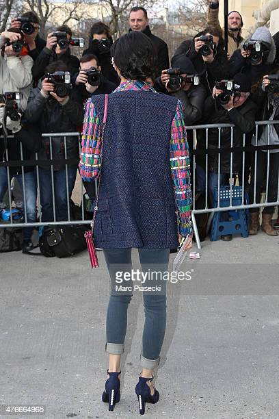 Rila Fukushima attends the Chanel show as part of the Paris Fashion Week Womenswear Fall/Winter 20142015 on March 4 2014 in Paris France