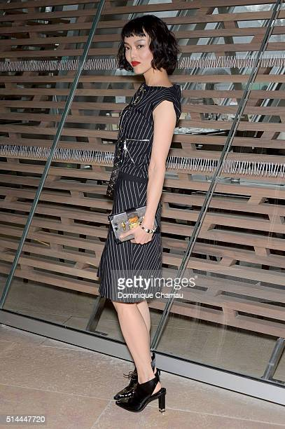 Rila Fukushima attends the Louis Vuitton show as part of the Paris Fashion Week Womenswear Fall/Winter 2016/2017 on March 9 2016 in Paris France