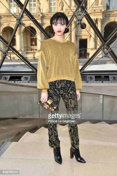 Rila Fukushima attends the Louis Vuitton show as part of the Paris Fashion Week Womenswear Fall/Winter 2017/2018 on March 7 2017 in Paris France
