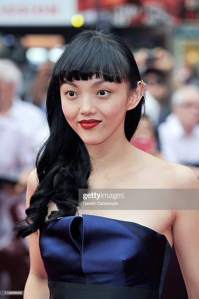 <a gi-track='captionPersonalityLinkClicked' href=/galleries/search?phrase=Rila+Fukushima&family=editorial&specificpeople=10133717 ng-click='$event.stopPropagation()'>Rila Fukushima</a> attends the UK Premiere of 'The Wolverine' at Empire Leicester Square on July 16, 2013 in London, England.
