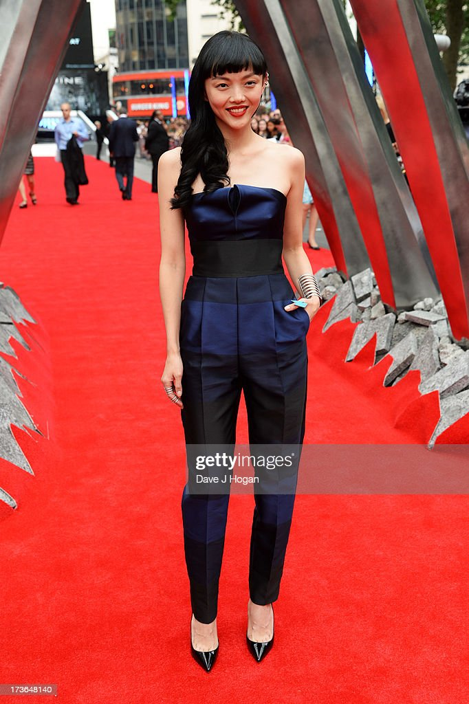 Rila Fukushima attends the UK premiere of 'The Wolverine' at The Empire Leicester Square on July 16, 2013 in London, England.
