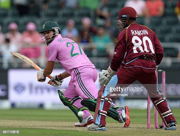 Rilee Rossouw of South Africa reverse sweeps a delivery during the 2nd Momentum ODI between South Africa and West Indies at Bidvest Wanderers Stadium...