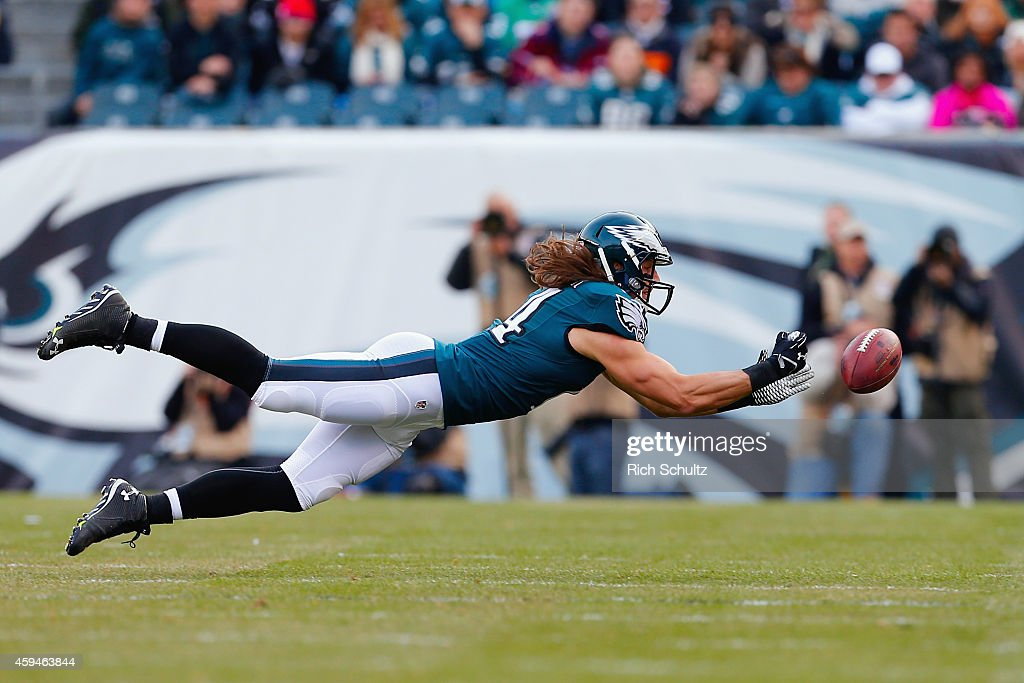 973456a8f1f ... Riley Cooper 14 of the Philadelphia Eagles attempts to make a catch in  the second ...