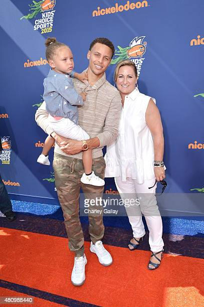 Riley Curry NBA player Stephen Curry and president of Nickelodeon Networks Cyma Zarghami attend the Nickelodeon Kids' Choice Sports Awards 2015 at...