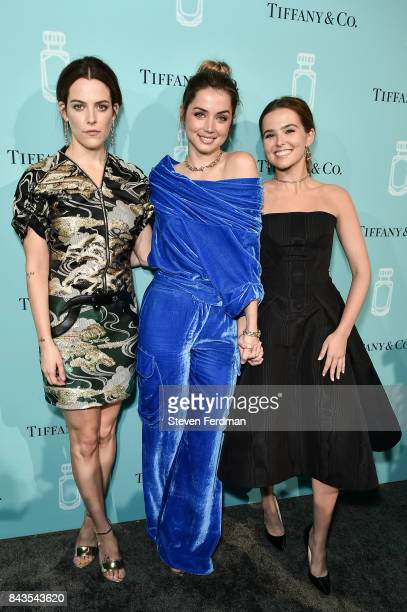 Riley Keough Ana de Armas and Zoey Deutch attend the Tiffany Co Fragrance launch event on September 6 2017 in New York City