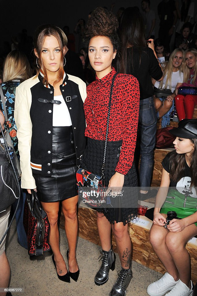 Riley Keough and Sasha Lane attend the Coach 1941 Women's Spring 2017 Show at Pier 76 on September 13, 2016 in New York City.