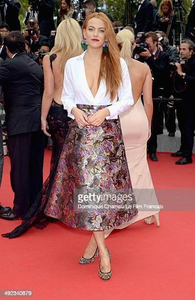 Riley Keough attends the 'Foxcatcher' Premiere at the 67th Annual Cannes Film Festival on May 19 2014 in Cannes France