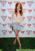 Riley Keough attends the GUESS Hotel pool party at the Viceroy Palm Springs on April 14 2013 in Palm Springs California