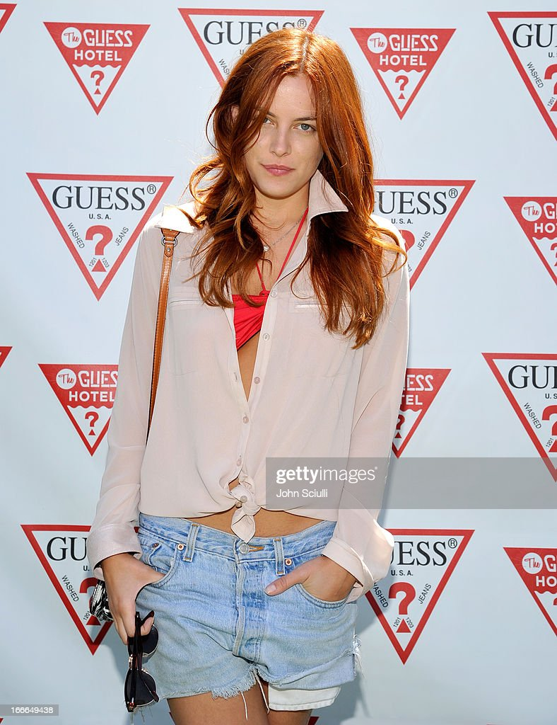 <a gi-track='captionPersonalityLinkClicked' href=/galleries/search?phrase=Riley+Keough&family=editorial&specificpeople=706267 ng-click='$event.stopPropagation()'>Riley Keough</a> attends the GUESS Hotel pool party at the Viceroy Palm Springs on April 14, 2013 in Palm Springs, California.