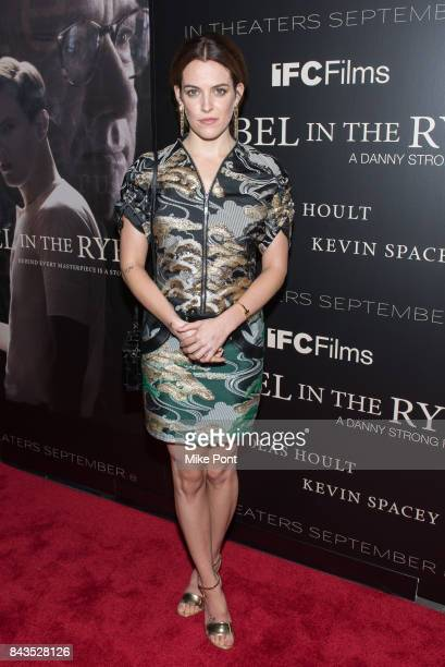 Riley Keough attends the 'Rebel in the Rye' New York Premiere at Metrograph on September 6 2017 in New York City
