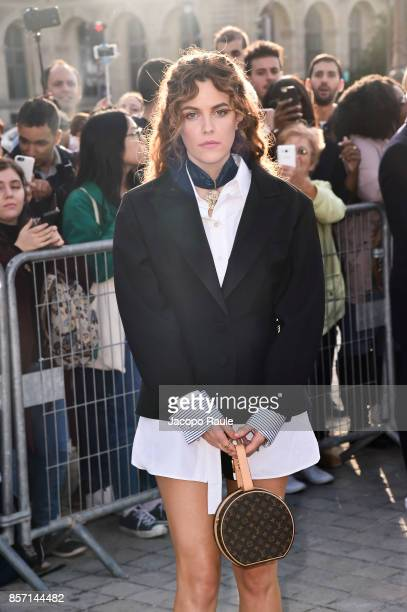 Riley Keough is seen arriving at Louis Vuitton show during Paris Fashion Week Womenswear Spring/Summer 2018 on October 3 2017 in Paris France