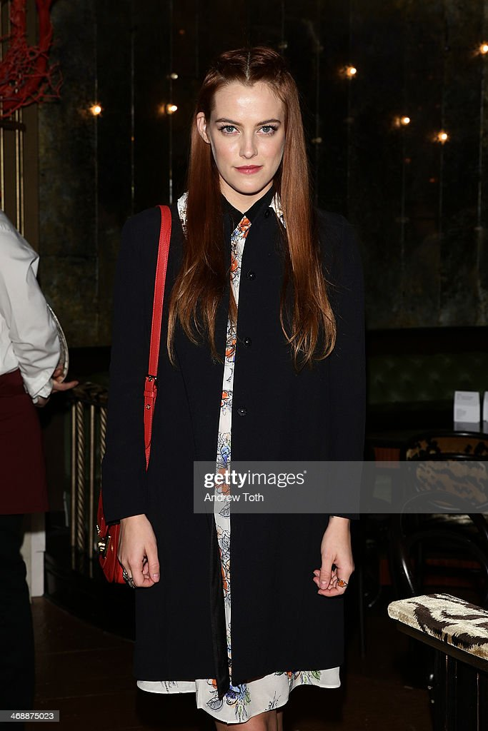 <a gi-track='captionPersonalityLinkClicked' href=/galleries/search?phrase=Riley+Keough&family=editorial&specificpeople=706267 ng-click='$event.stopPropagation()'>Riley Keough</a> wearing Miu Miu at Miu Miu Women's Tales 7th Edition - 'Spark & Light' Screening - Inside at Diamond Horseshoe on February 11, 2014 in New York City.