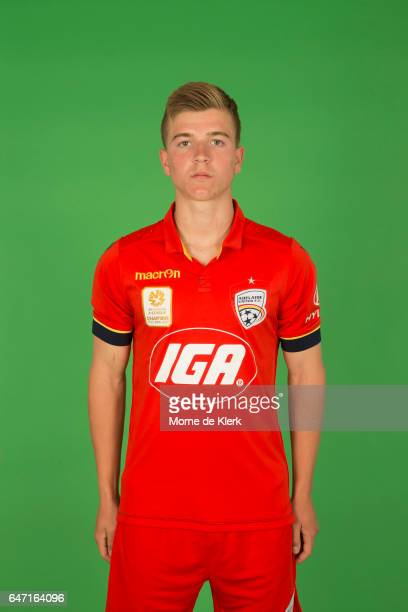 Riley McGree poses during the Adelaide United 2016/17 ALeague headshots session at the Adelaide United Training Centre on September 26 2016 in...