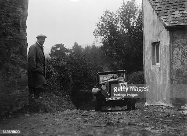 Riley saloon of AP Squire competing in the JCC Lynton Trial 1932 Riley Saloon 1929 1089 cc Vehicle Reg No PG5501 Event Entry No 33 Driver Squire AP...