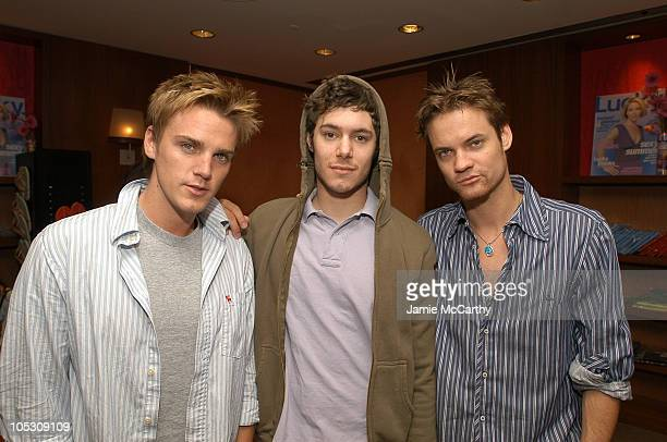 Riley Smith Adam Brody and Shane West during The Lucky/Cargo Club An Upfront Week Hospitality Suite Day 2 at Le Parker Meridien in New York City New...