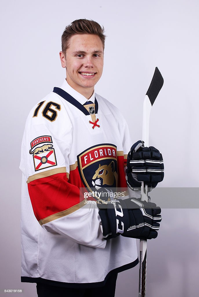 Riley Stillman poses for a portrait after being selected 114th overall by the Florida Panthers during the 2016 NHL Draft on June 25, 2016 in Buffalo, New York.