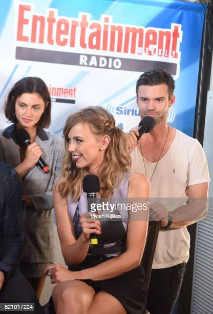 Riley Voelkel and Daniel Gillies attend SiriusXM's Entertainment Weekly Radio Channel Broadcasts From Comic Con 2017 at Hard Rock Hotel San Diego on...