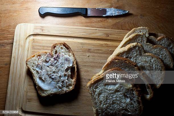 Rillettes on a slice of bread