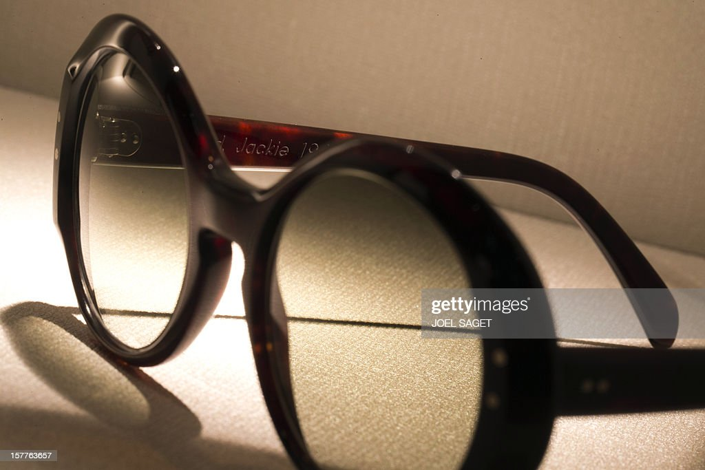 A rim glasses design Jackie Kennedy made by the Maison Bonnet is displayed at the group's store in Paris on December 6, 2012.