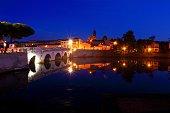 Rimini Tiberius bridge, Italy