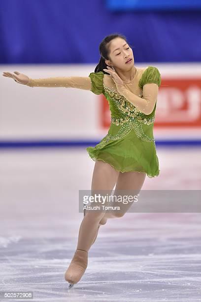 Rin Nitaya of Japan competes in the Ladies free skating during the day three of the 2015 Japan Figure Skating Championships at the Makomanai Ice...
