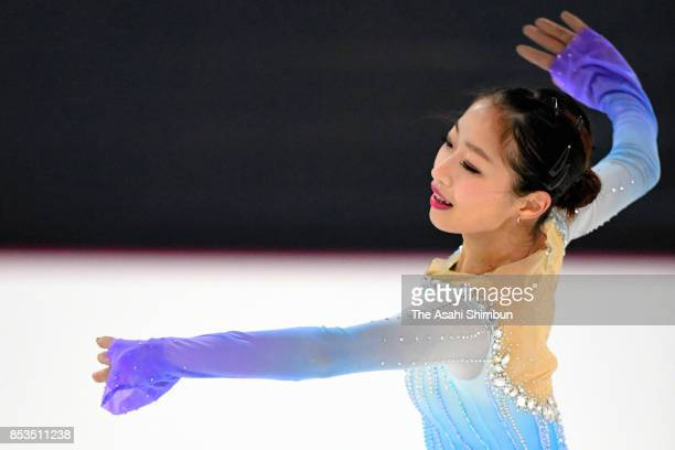 Rin Nitaya of Japan competes in the Ladies Singles Free Skating during day three of the Autumn Classic International at Sportplexe Pierrefonds on...