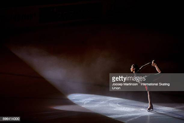 Rin Nitaya of Japan performs in the Gala Exhibition on day three of the ISU Junior Grand Prix of Figure Skating on August 27 2016 in...
