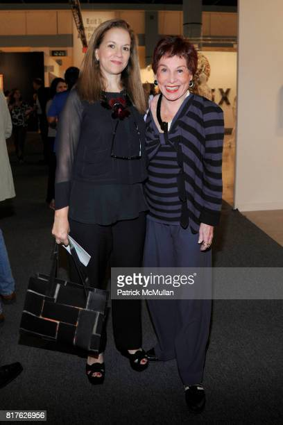 Rina Carvajal and Joan Sonabend attend ART BASEL MIAMI BEACH 2010 at Miami Beach Convention Center on December 1 2010 in Miami Beach Florida