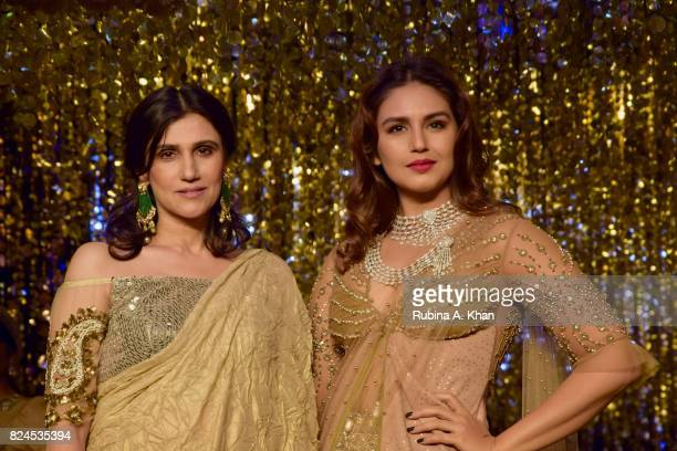 Rina Dhaka and Huma Qureshi during the FDCI's India Couture Week 2017 at the Taj Palace hotel on July 30 2017 in New Delhi India