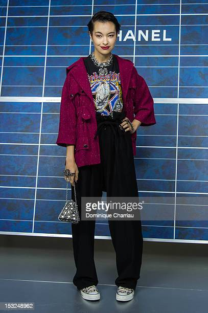 Rina Ota attends the Chanel Spring / Summer 2013 show as part of Paris Fashion Week at Grand Palais on October 2 2012 in Paris France