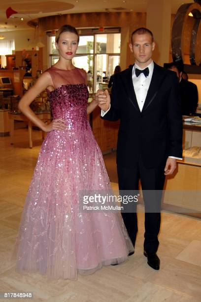 Rina Roe and Lucas Kerr attend Manolo Blahnik In Person at Neiman Marcus at Neiman Marcus on October 7 2010 in Beverly Hills California