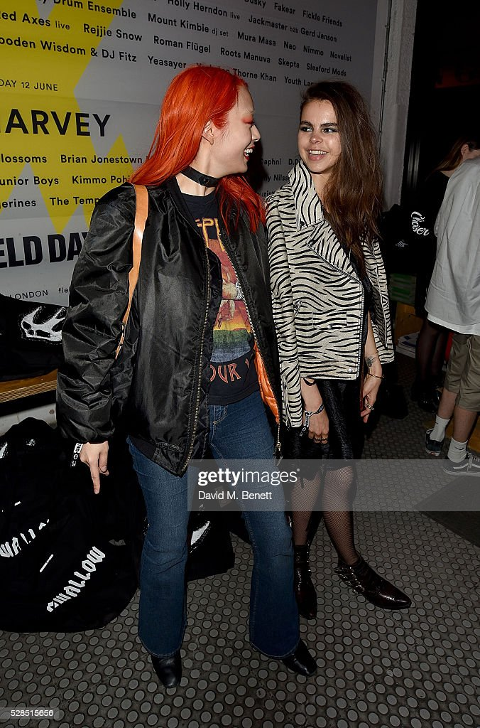 Rina Sawayama and Bee Beardsworth attend to celebrate the launch of McQ Swallow Capsule collection at Rough Trade East on May 5, 2016 in London, England.