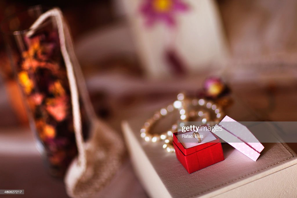 Ring and necklace : Stock Photo