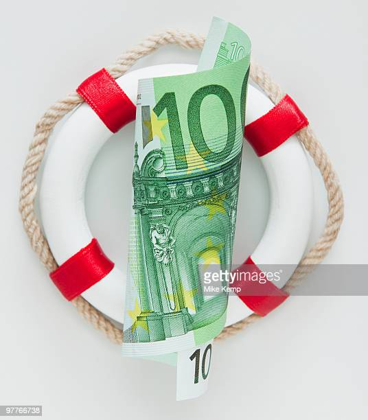 Ring buoy behind European currency