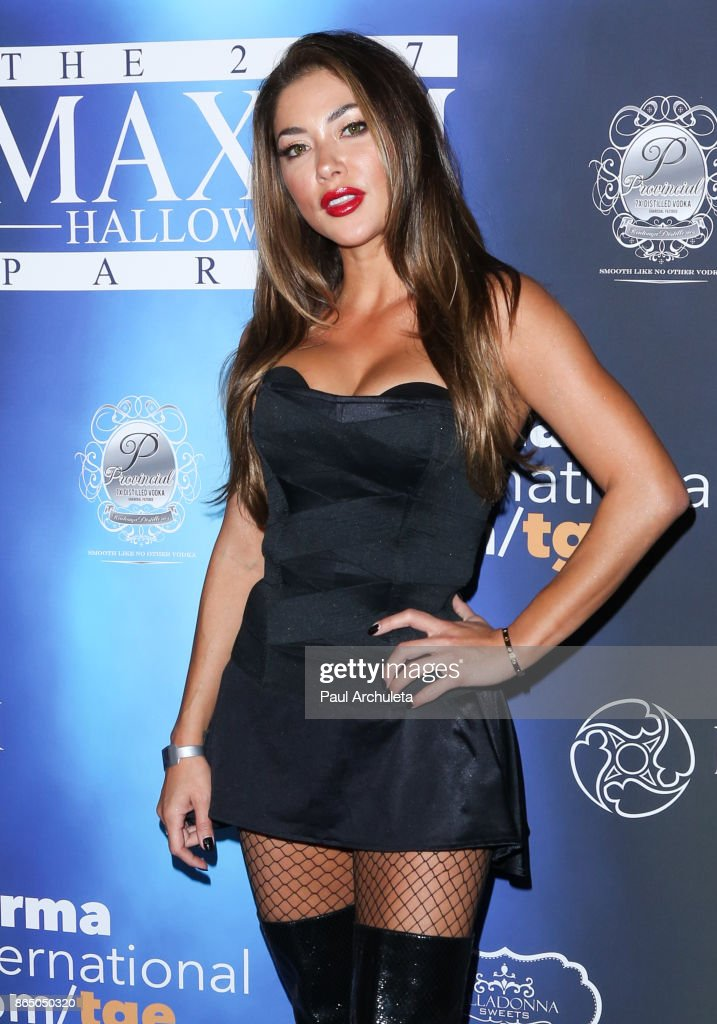 Ring Card Girl Arianny Celeste attends the 2017 Maxim Halloween party at Los Angeles Center Studios on October 21, 2017 in Los Angeles, California.