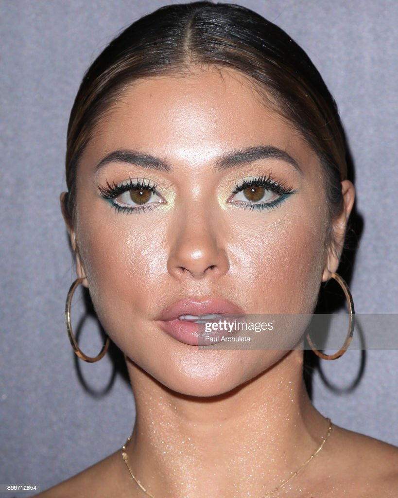 Ring Card Girl Arianny Celeste attends the PrettyLittleThing by Kourtney Kardashian launch party on October 25, 2017 in Los Angeles, California.