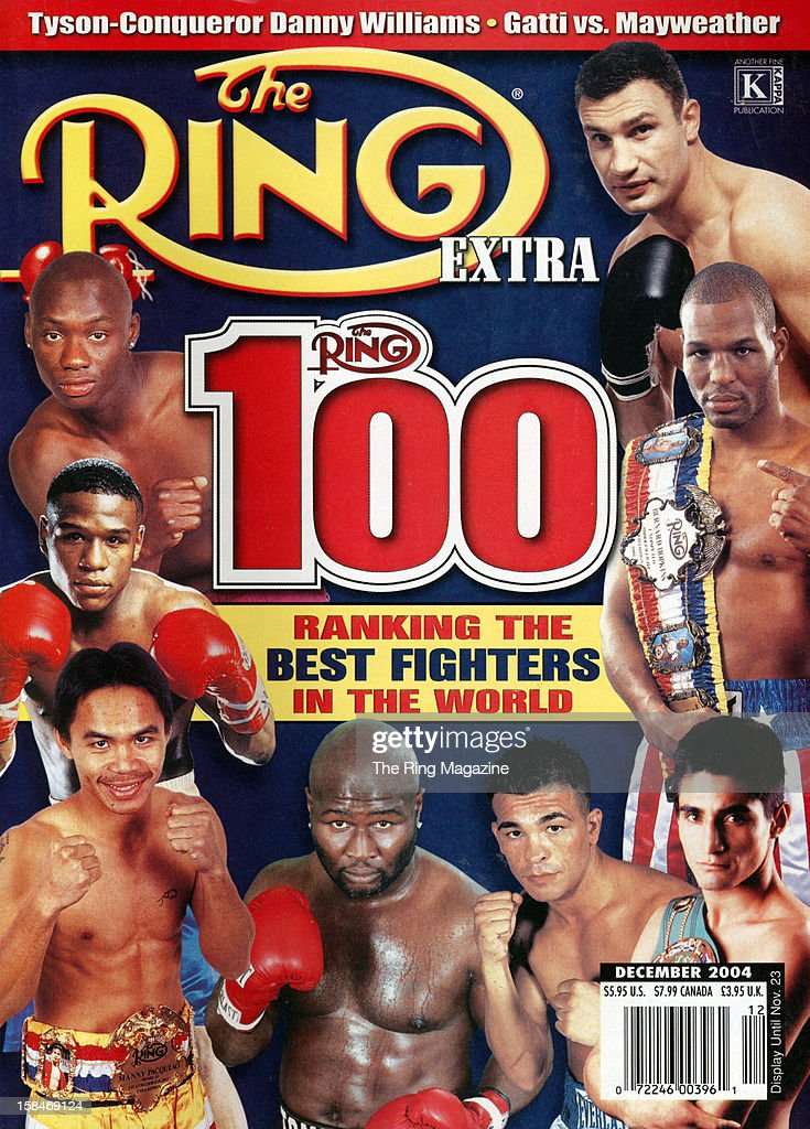 Ring Magazine Cover - 100 best fighters in the world on the cover.