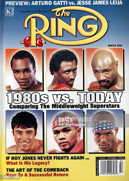 Ring Magazine Cover 1980s vs Today Sugar Ray LeonardThomas HearnsMarvin HaglerOscar De La Hoya Felix Trinidad and Bernard Hopkins on the cover