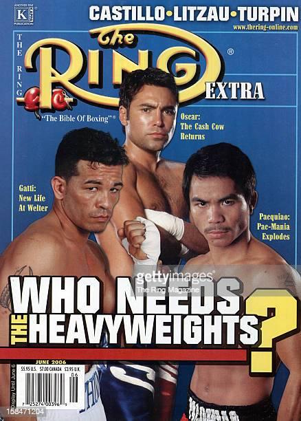 Ring Magazine Cover Arturo Gatti Oscar De La Hoya and Manny Pacquiao on the cover