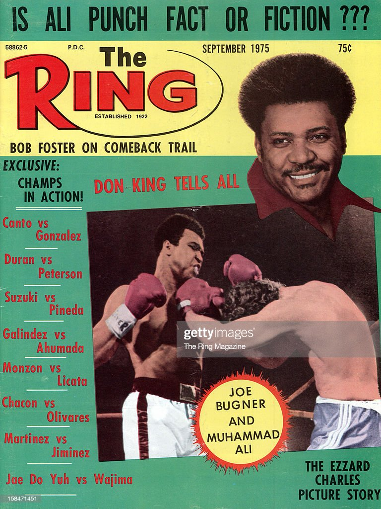 Ring Magazine Cover - <a gi-track='captionPersonalityLinkClicked' href=/galleries/search?phrase=Don+King&family=editorial&specificpeople=171346 ng-click='$event.stopPropagation()'>Don King</a>, Muhammad Ali and <a gi-track='captionPersonalityLinkClicked' href=/galleries/search?phrase=Joe+Bugner&family=editorial&specificpeople=239003 ng-click='$event.stopPropagation()'>Joe Bugner</a> on the cover.