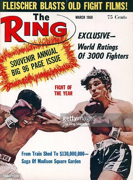 Ring Magazine Cover Emile Griffith and Nino Benvenuti on the cover