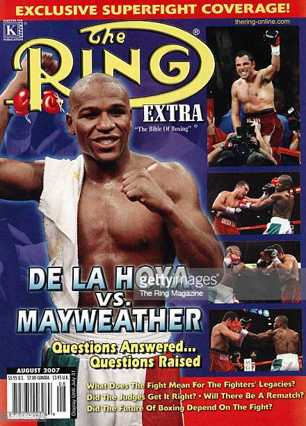 Ring Magazine Cover Floyd Mayweather and Oscar De La Hoya on the cover