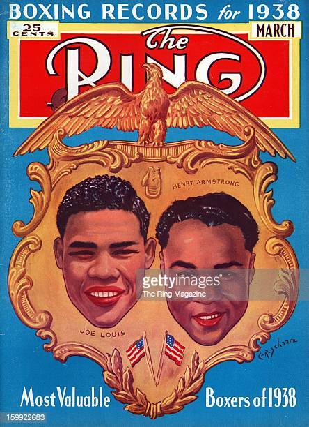 Ring Magazine Cover Illustration of Joe Louis and Henry Armstrong on the cover