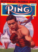 Ring Magazine Cover Illustration of Joe Louis on the cover