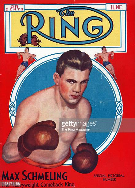 Ring Magazine Cover Illustration of Max Schmeling on the cover