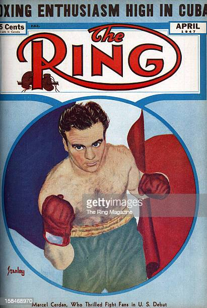 Ring Magazine Cover Marcel Cerdan on the cover